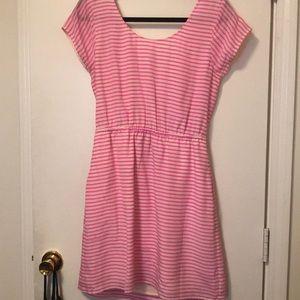 Madewell Striped Silk Dress